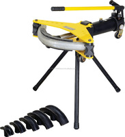 hydraulic pipe bender with hinged frame