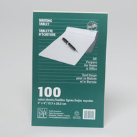 WRITING RULED TABLET 100 SHEETS 5 X 8 #2800159