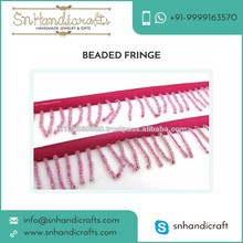 Multipurpose Use Premium Quality Glass and Plastic Made Beaded Fringe at Low Price