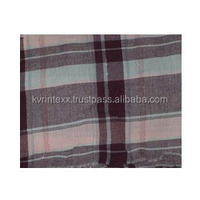 cotton flannel plain checked fabric for school girl's dress uniform
