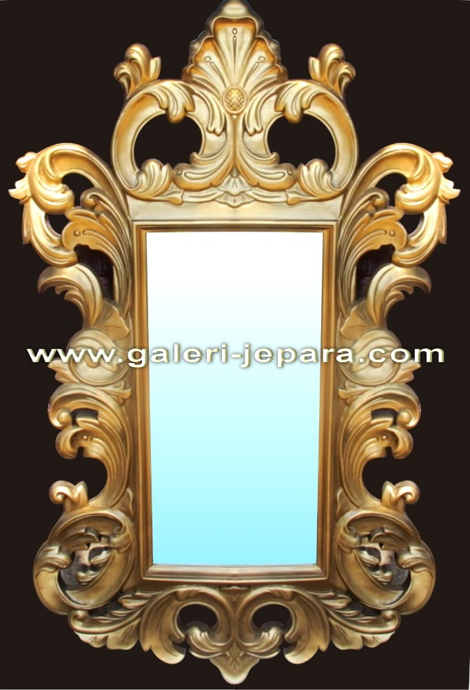 Baroque frame - Stand Mirror Wooden Furniture - Gold Finish - Hand Carving Wall Mirror