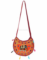 2016 Explosion Models Women's Ethnic Style Cross Body Bag/Retro Portable Sling Elephant Embroidery & Mirror Work Shoulder Bag