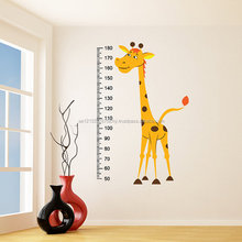 Nursery Vinyl Wall Decal Giraffe Baby Growth Height Chart Measurement Ruler Sticker Child Kids Room Decoration Art