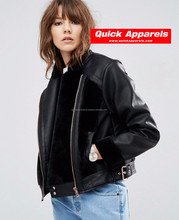 Custom high quality Factory price winter pu leather jacket women,man leather jacket winter PU leather jacket