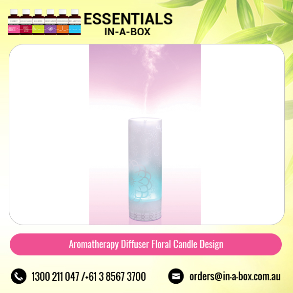 Aromatherapy Aroma Diffuser Available in Floral Candle Design