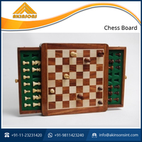 Magnetic Two Push Drawer Chess Board Game Set for Sale