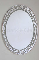 Wholesale And Retail Ease Maintenance Oval glass mirror