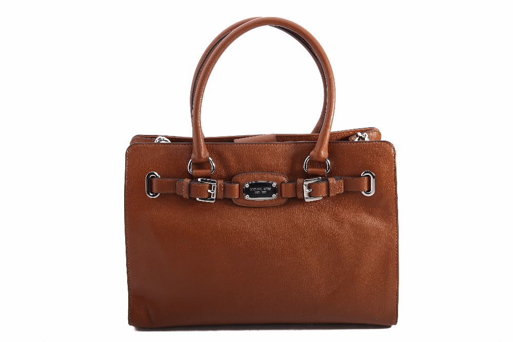 Michael Kors Hamilton Lg Ew Tote Leather Luggage