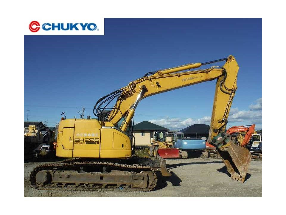 SECOND HAND EXCAVATOR SUMITOMO CONSTRUCTION SH225X FROM JAPAN