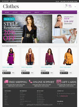 Responsive C2C Magento Website Design and Development for Garments with Free Domain Registration - www.theme4biz.com