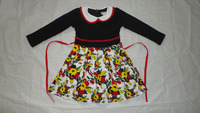 American Style Special Design Long Sleeves Frock for Girls