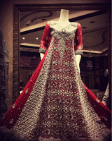 Luxury Bridal Wear , Red color Designer bride dresses