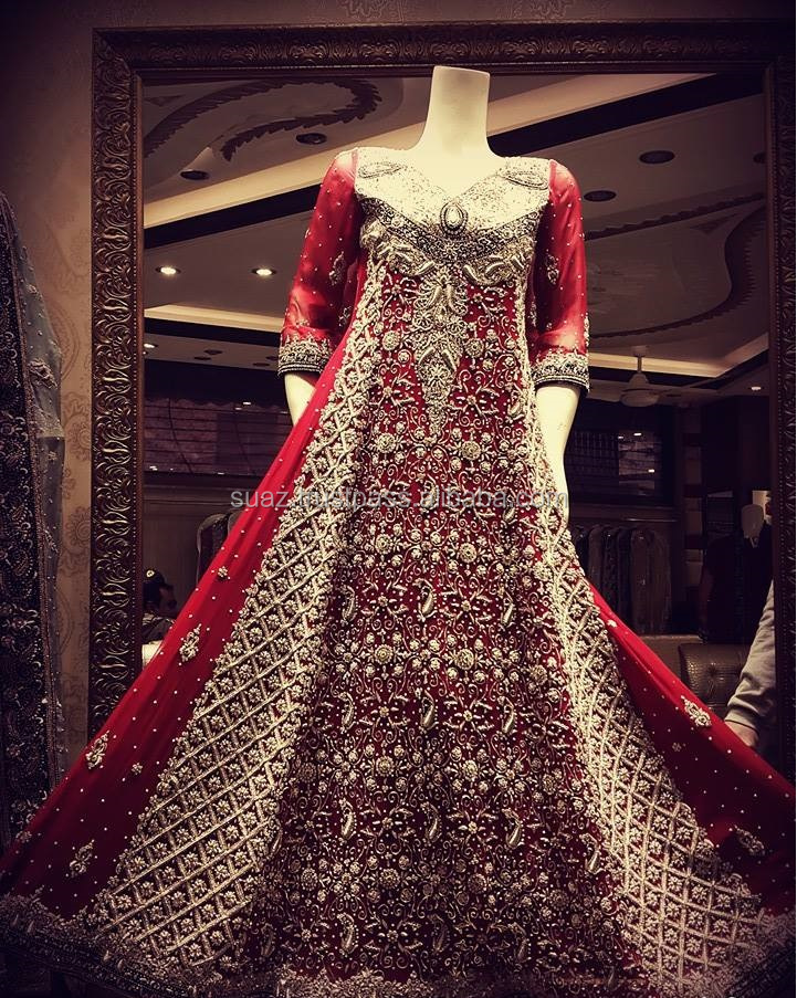 pakistani bridal suits 2016 , Pakistan Shadi dulhan dresses , Luxury Bridal Wear , Red color Designer bride dresses , Shadi Suit