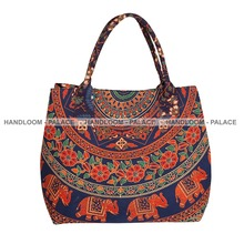 Indian Handbags Women Shoulder Bag Ethnic Mandala Tote Bag Handmade Shopping Bag