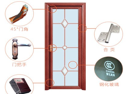 Global promotion aluminium bathroom interior doors 2015