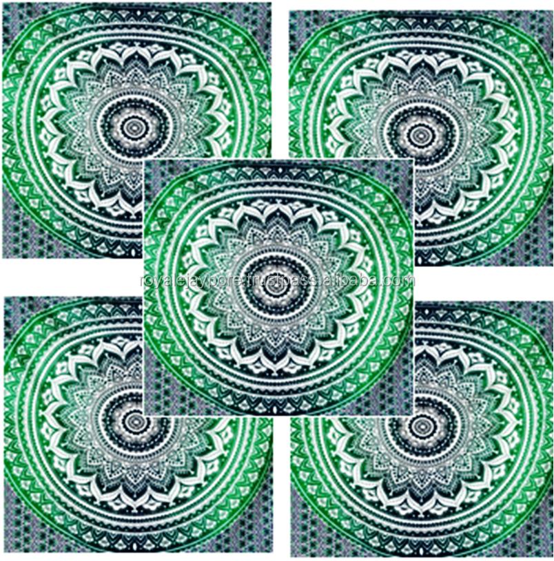 Groothandel veel 20 stuks indian mandala twin tapijt muur opknoping throw bed cover bed spread - Etnische pouf ...