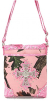 Oak Tree Western Pink Camouflage Cross-body Sling Bags Purses Assorted