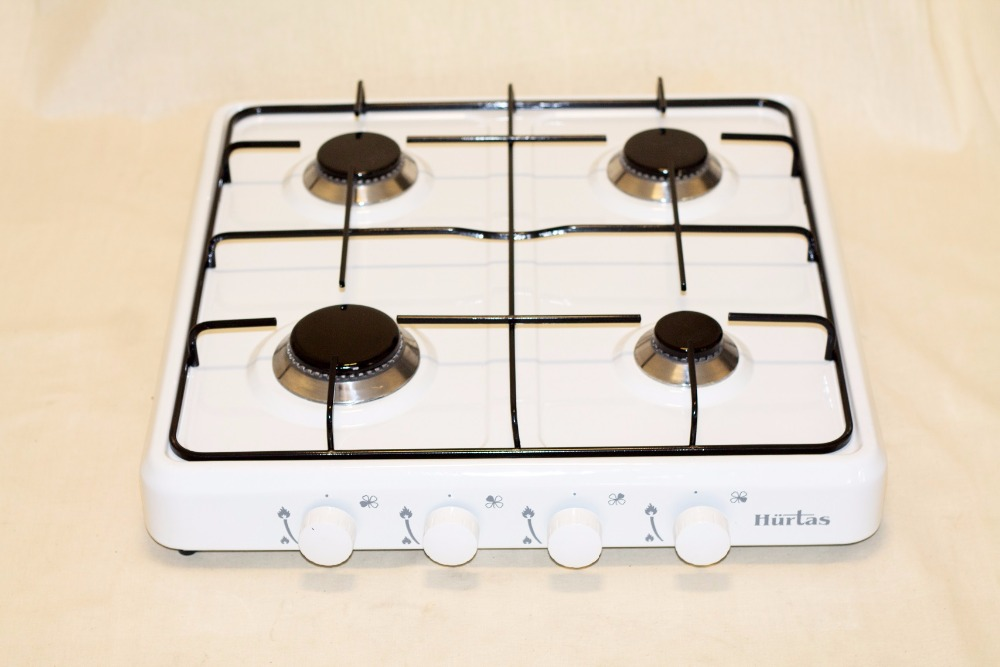 3035 - 4 BURNER GAS COOKER ENAMEL PLATE COUNTER TOP HOB