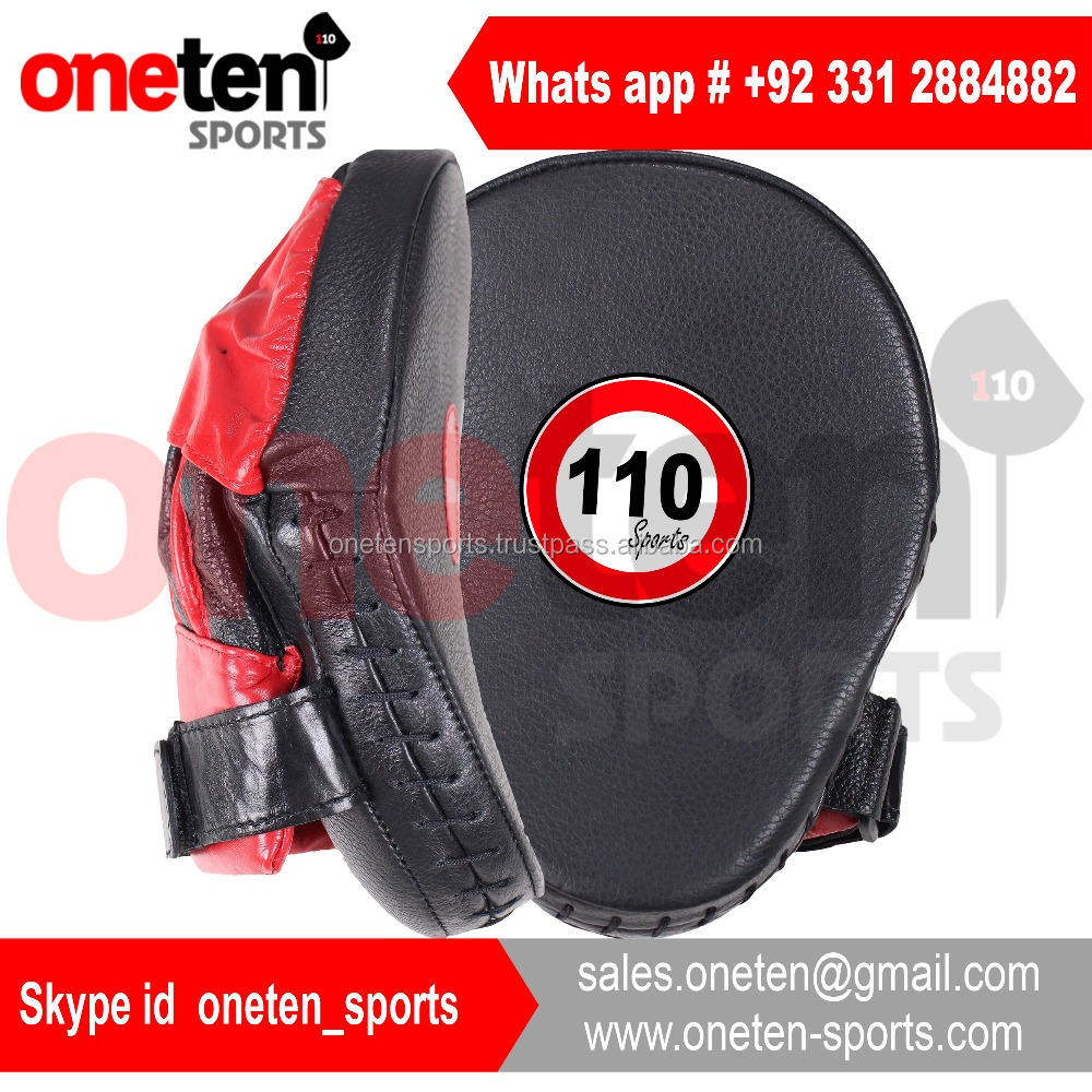 Black leather or pu focus pads high quality padding for practice and safety focus pads / Boxing equipments