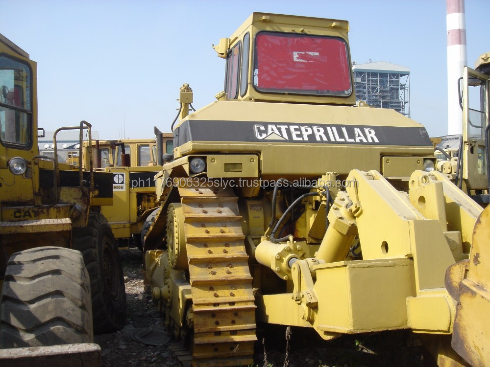 Used CAT D8L tractor bulldozer with ripper and front blade from USA