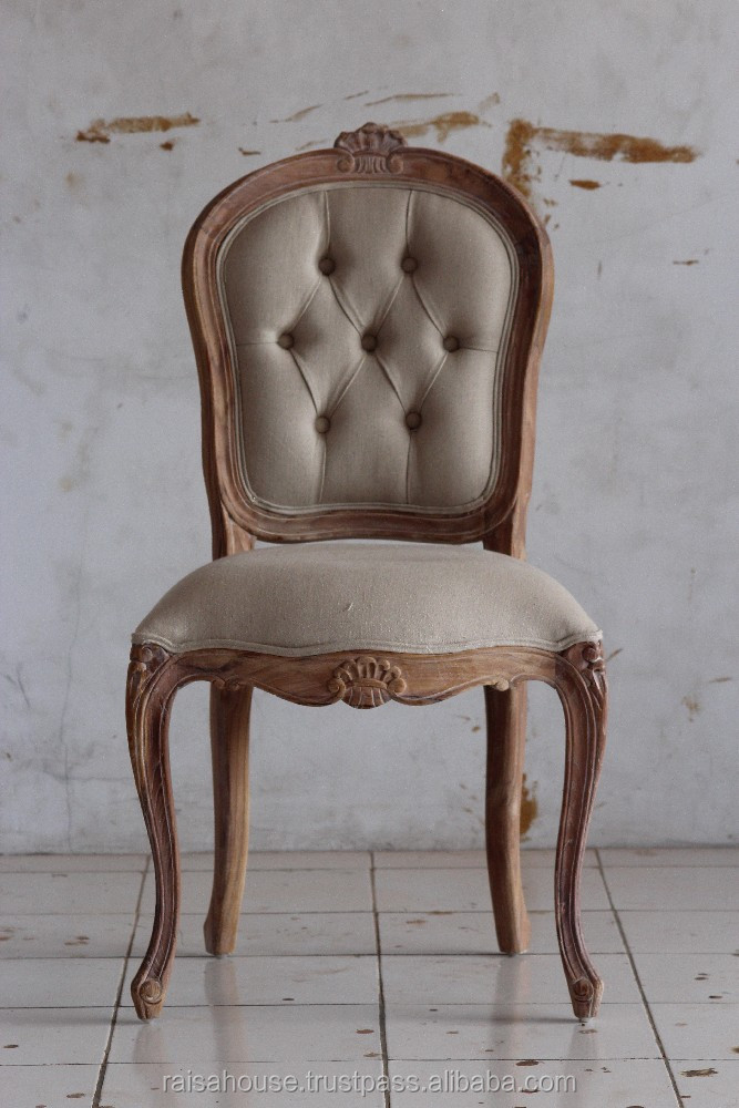Reclaimed Furniture - Louis XV Chair with Cane & Uph, Fleur de Lea Carving Indonesia Furniture