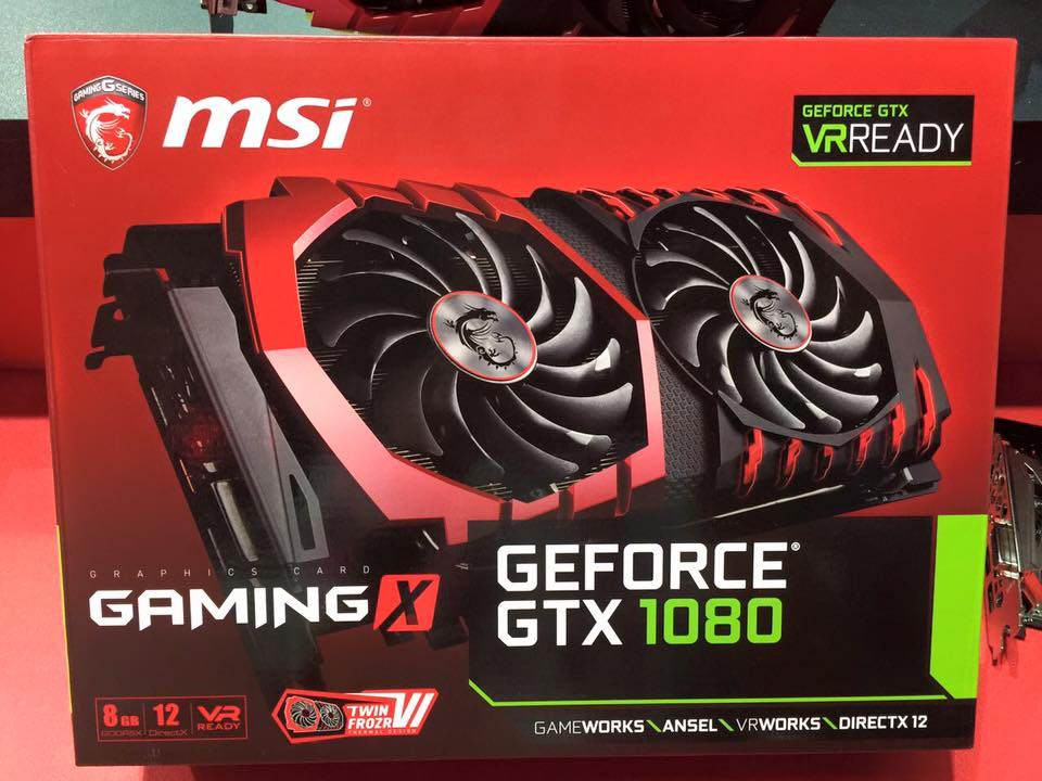 MSI Cooling system TWINFROZR VI GeForce GTX 1080 GAMING X 8G Graphic card