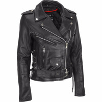 Men's Leather Jacket Handmade Black Motorcycle Solid