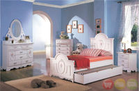 White Wood Girls Twin Bed Kids 4 Piece Bedroom Furniture Set/ Beautiful and Stylist home decor Furniture