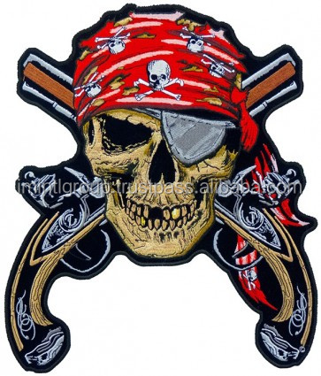 Pirate Skull & Guns Patch, Pirate Back Patches in cheap price