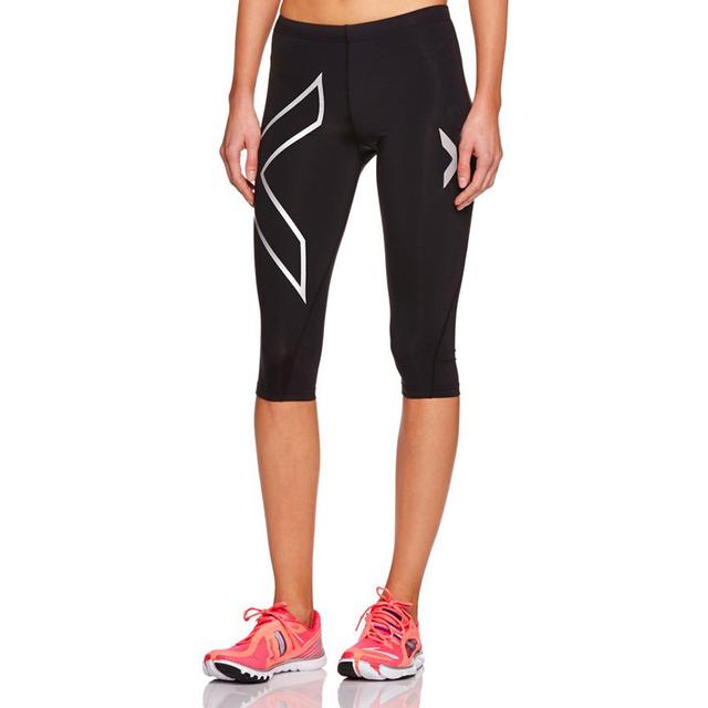 Custom three quarter yoga pants / fitness wear tight yoga pants