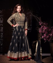 Ethnic casual wear Indian net ladies salwar kameez suit design
