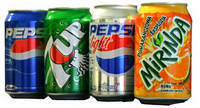 Pepsi,Mirinda ,7up,Mountain Dew 500ml