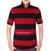 mans striped polo shirts european style t shirt cotton American Style T Shirt Men / Custom Style T / Stripe Polo Shirt