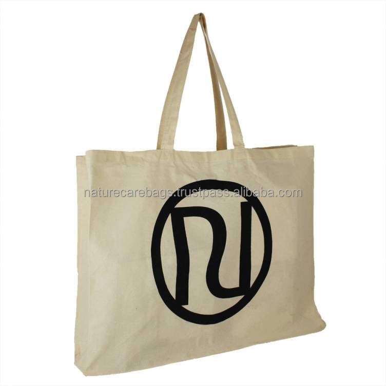 Cotton canvas printed eco-friendly bag/NATURAL COTTON CANVAS TOTE BAG/NATURAL COTTON WASHING BAG