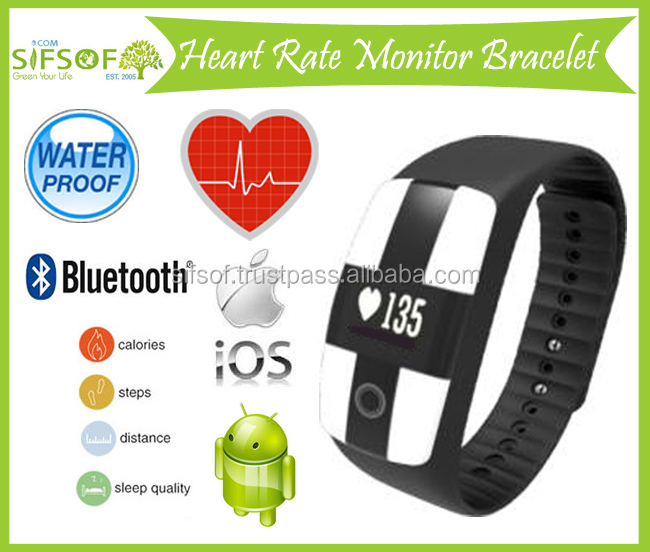 Waterproof Wristband, Supports iOS Android, Bluetooth, Heart Rate Monitor, Sleep Management, Fitness Goal's Setting, SIFIT-10.3