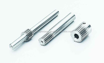 Spur pinion gear shaft Module 0.5 Stainless steel Made in Japan KG STOCK GEARS