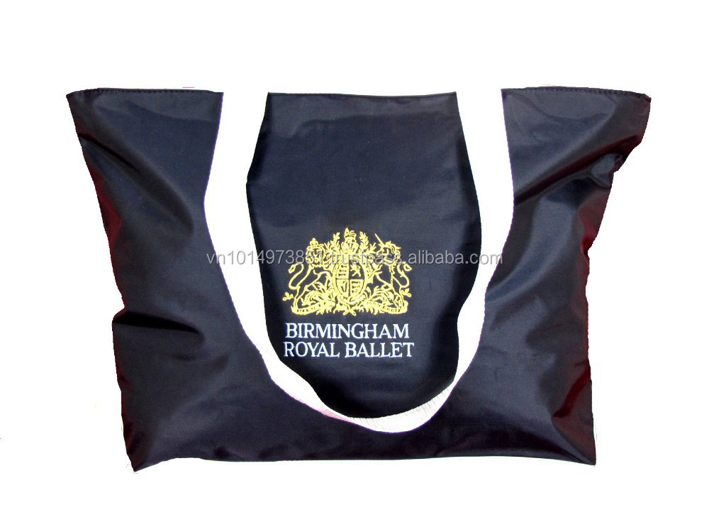 Birmingham Royal Ballet Embroidered Nylon Shopping Bag