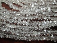 9-11 MM Naturally double terminated Herkimer Diamond Quartz Beads 16 inch strand