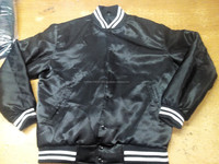Custom Sports Baseball Jacket Front Pocket Satin Striped Trim Baseball Jacket/Letterman Varsity Jacket/Basketball Varsity Jacket