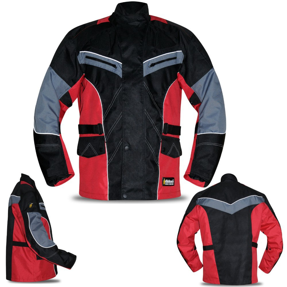 Mens Textile Motorbike Motorcycle Jacket Armoured Cordura Waterproof Reflective