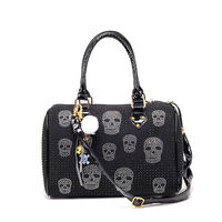 Fashion Diamante Skull Handbag