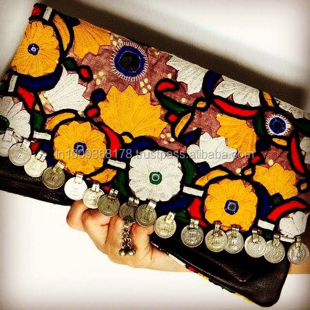 Vintage/banjara style clutch/ multi colour flower clutch/awesome clutch
