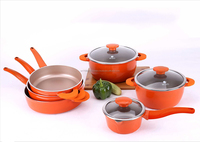 New non-stick die casting forging aluminm Fry Pan Set Risoto Elmich S-09
