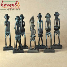African tribal wood carving wooden figurines sculptures