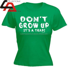 sublimation Dont grow up t-shirt/all over sublimation printing kids t-shirt/dye sublimation t-shirt printing