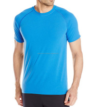 wholesale Men Gym Tight Fit Stretch Cotton dark blue T Shirt Round Neck Good Quality O Neck