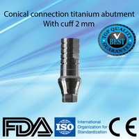 Dental implant titanium abutment conical connection similar Nobel Active RP