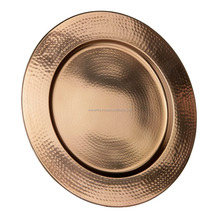 copper Charger Plate/ copper show plate/ copper wedding table plate