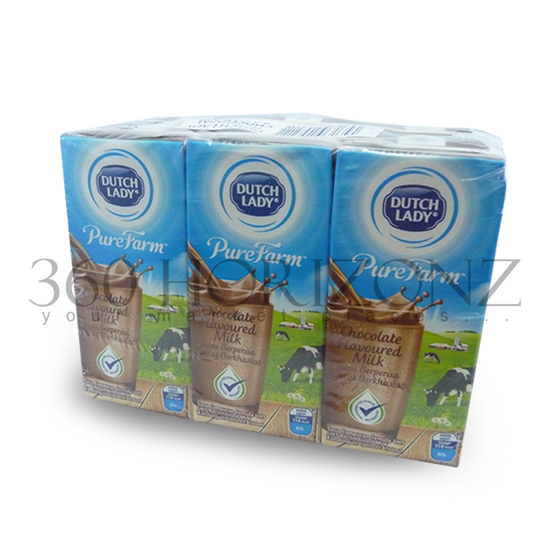 Dutch Lady Pure Farm Chocolate Flavoured Milk (200ml x 6packs)