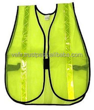 reflective safety mesh vest 3m warning tape with pockets
